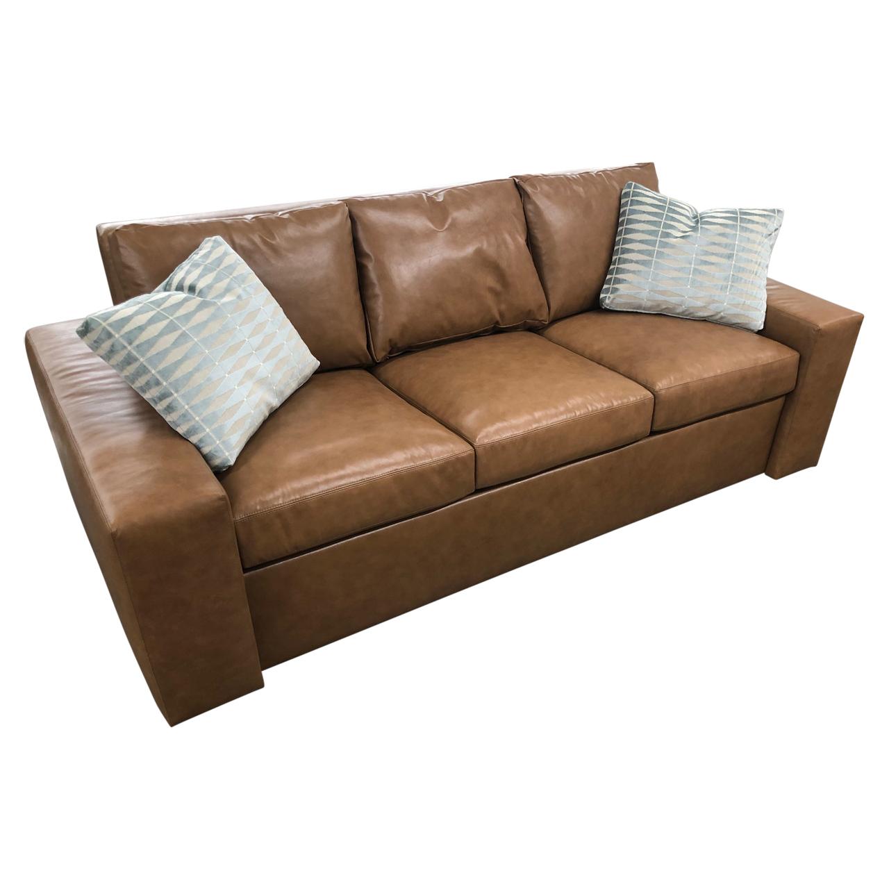 Custom Leather EZ Sleepsofa